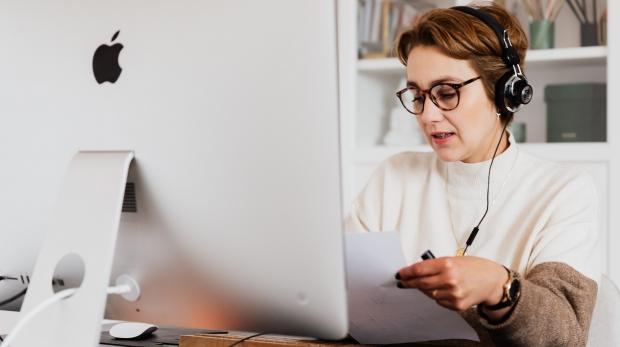 Canva - Confident woman having video call via computer